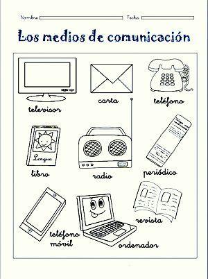 Resultado de imagen para como elaborar los medios de comunicacion para niños preescolar