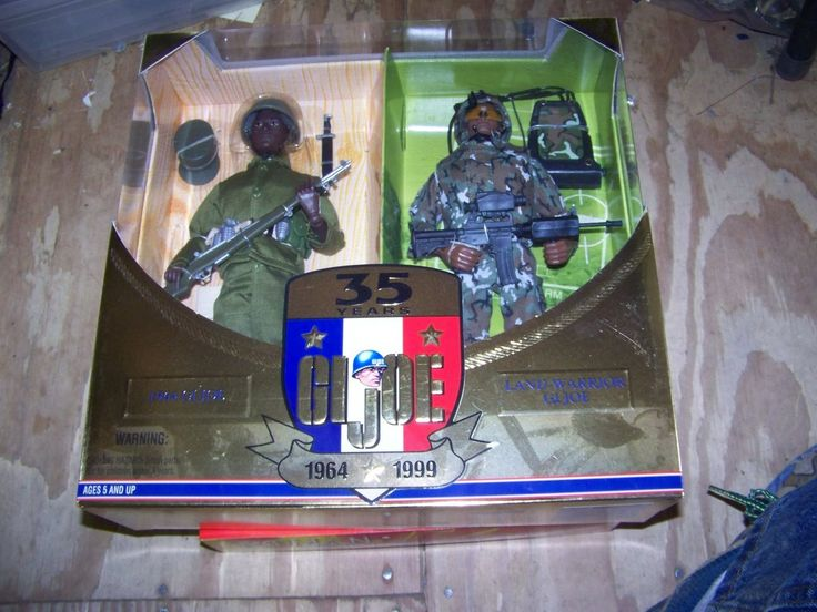 GI Joe 1/6 35 Year Salute 1964-1999 Original 1964 GI Joe &1999 Land Warrior AA NRFB