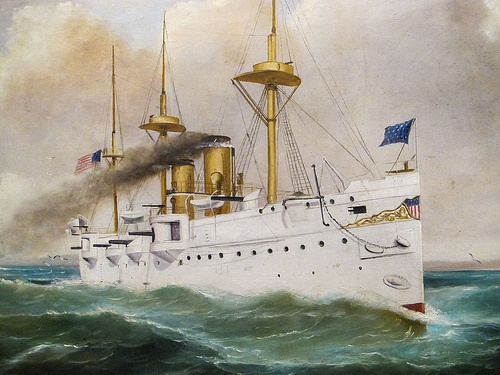 Unknown Ship from the Great White Fleet