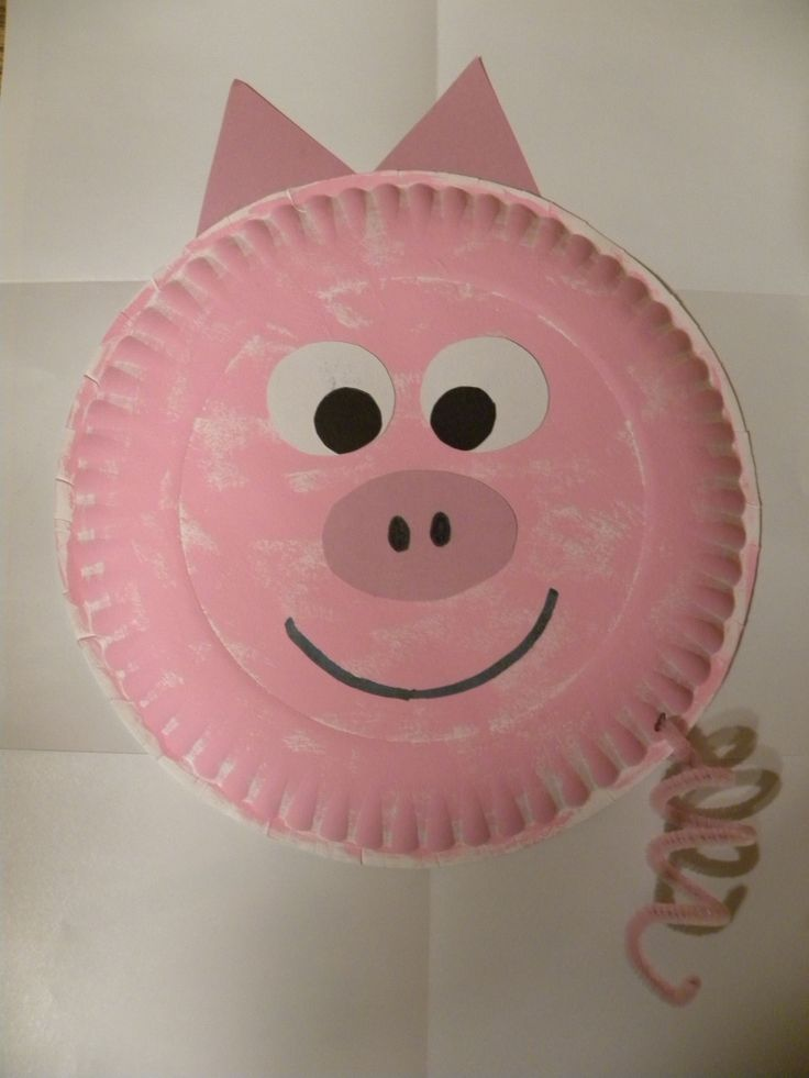 This is a fun art activity that I did in a preschool class called Paper Plate Pig. Easy and not very time consuming.