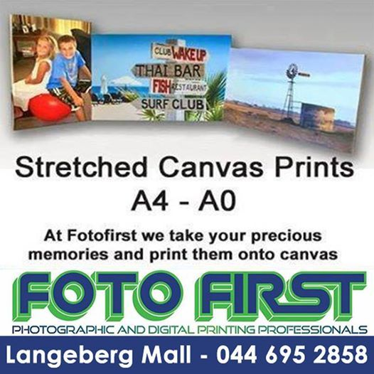 At Fotofirst Mosselbay we take your precious memories, and print them onto #canvas. Decorate your home surrounded by moments that you wish to remember, and #share. Speak to us about the various sizes available
