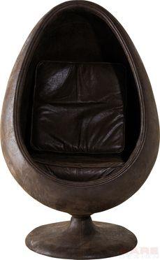De draaistoel Eye Ball Vintage is een leder-look stoel in retro eivorm en is nu verkrijgbaar bij Furnies.nl voor €999,95!