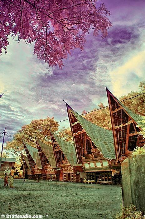 Batak House (Infrared) - Danau Toba, Sumatera, Indonesia