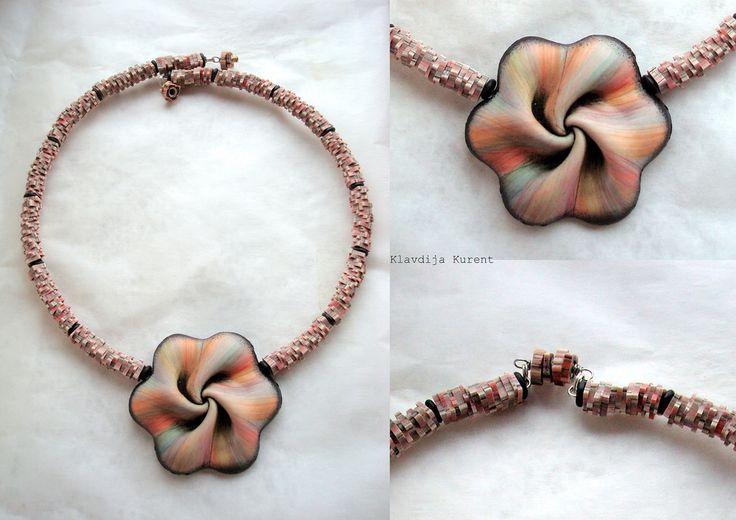polymer clay...Wrinkled wrinkles inspired by Dan Cormier & chips Klavdija Kurent
