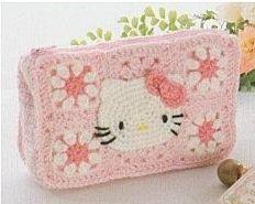 Patrón #859: Cartera Hello Kitty a Crochet | CTejidas [Crochet y Dos Agujas]