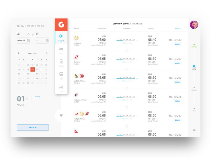 Flight Booking App - Search Screen (by @DanishAhmed) Love it!! More Design Stories: https://itunes.apple.com/app/id1033018884