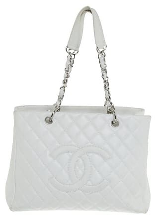 4fde41fa2e6b9 Chanel gebraucht - Shopper in Creme - Damen - Leder