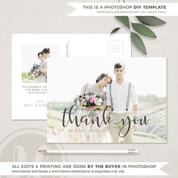wedding thank you card templates