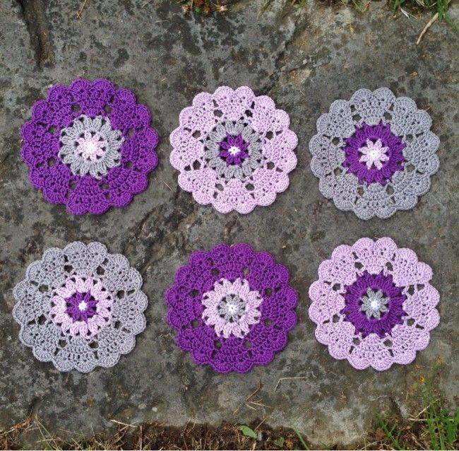 Heart Mandala motif, free pattern from Crochet Millan   . . . .   ღTrish W ~ http://www.pinterest.com/trishw/  . . . . #crochet