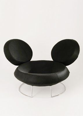With-D armchair by Curiosity for Machin. Was going to pin this in furniture, but can't get pussy the mickey ears!