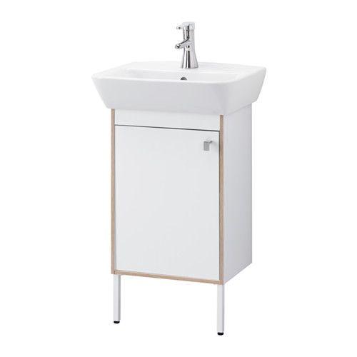 IKEA - TYNGEN, Wastafel met onderkast 1 deur, , Stelbare poten geven stabiliteit en beschermen tegen optrekkend vocht.Zeer geschikt voor iedereen met een kleine badkamer omdat de kastelementen slechts 40 cm breed zijn.