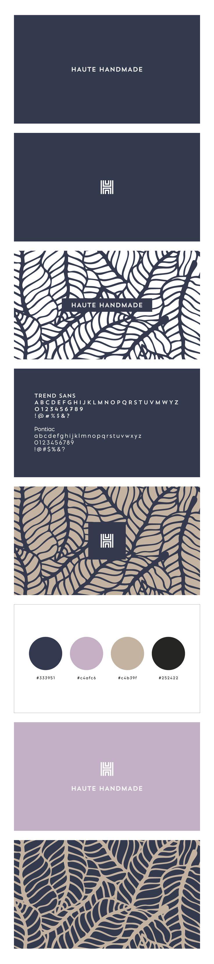 Branding and logo design for a new website, hautehandmade.com, by IAMTHELAB Consulting.