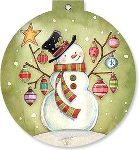 Holiday Card - Snowman with Bling | Michael Stoebner | 92127 | Leanin' Tree
