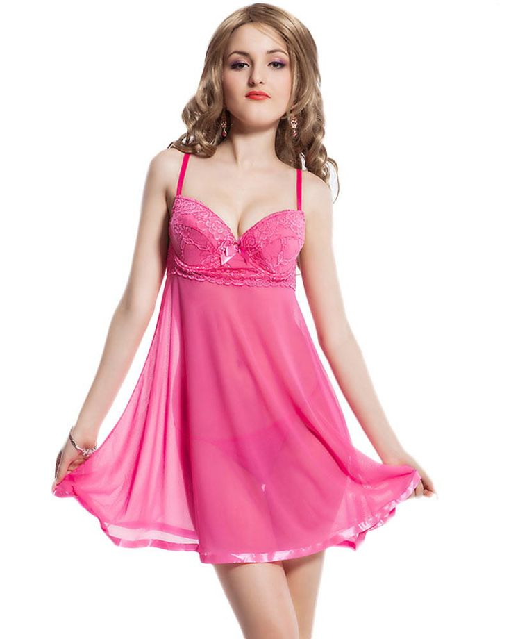 Hidden Secret Comfort- Babydoll nighty dress for women which lures your feminine side. Grab out this pink coloured nighty dress until discounted offer is on #womensfashion #womensnighty #pinknightwearset Shop here-https://goo.gl/8Kr3M6