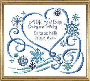 Winter Wedding Counted Cross Stitch Pattern