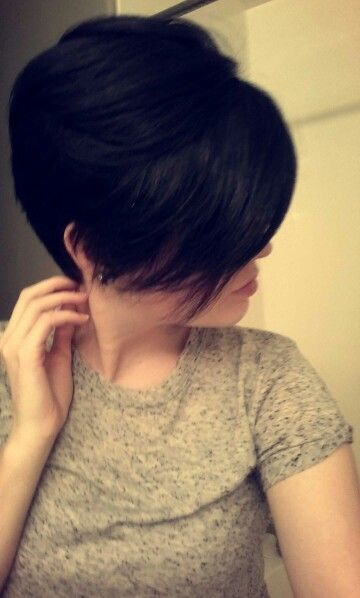 Pixie Cuts Square Faces And Long Bangs On Pinterest