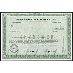 Berkshire Hathaway Inc. Specimen Common Stock and Possible IPO Issue from 1973. - Archives International Auctions