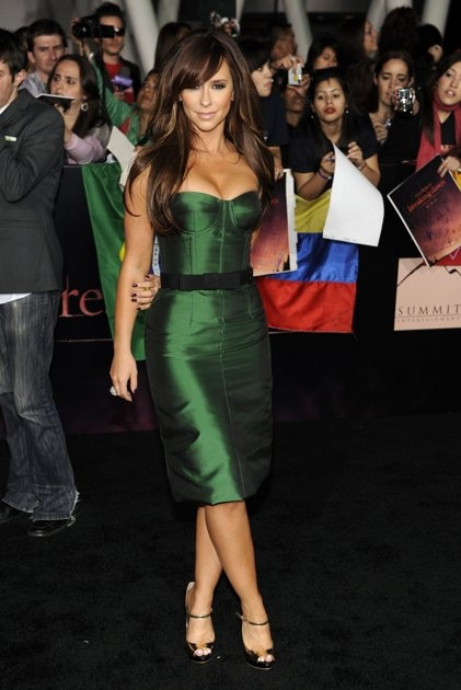 she looks amazing in this pic..love the dress!