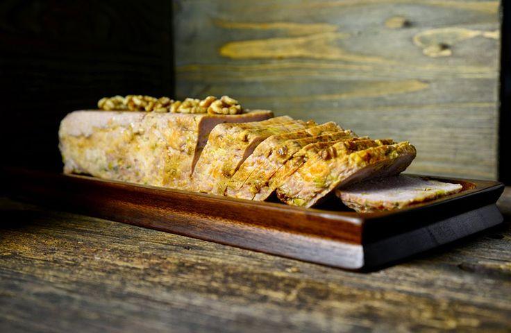 Pastel de pollo con nueces y aceitunas - Hecho en microondas en solo 11 minutos!!!