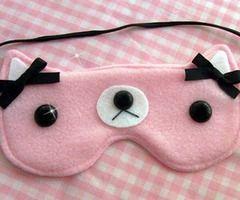 máscara para dormir bonitinha!