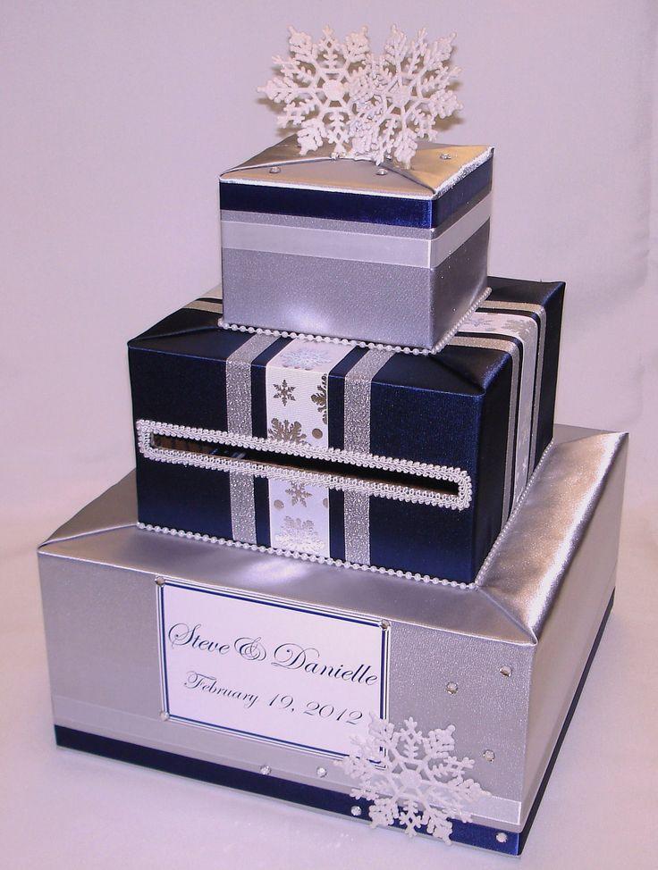 Elegant Custom Made Wedding Card BoxWinter by ExoticWeddingBoxes, $80.00