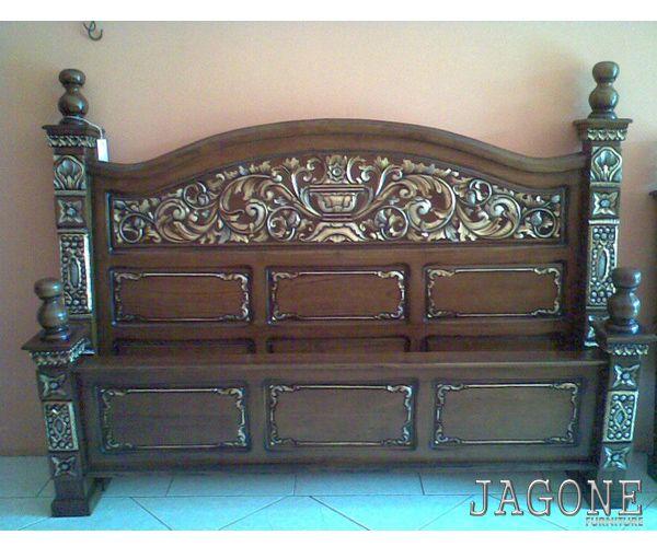 TEMPAT TIDUR JATI RAHWANA DARI JEPARA Tempat tidur jati berkualitas dari meubel jepara, kami men jual furniture tempat tidur jati berkualitas dengan desain terbaru, dan salah satunya adalah depan...