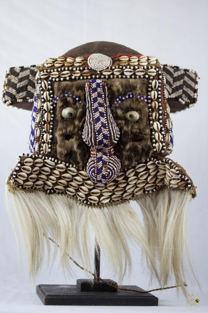 Tribal Used Kuba Royal Helmet - Mask Congo DRC
