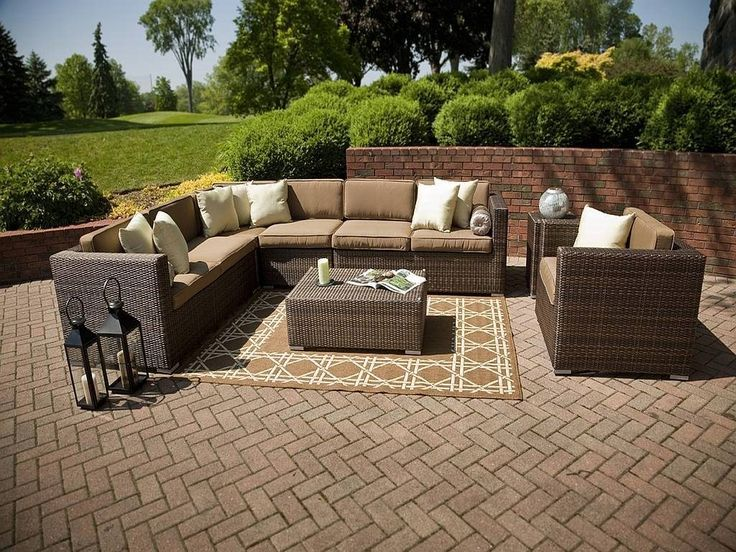 resin wicker outdoor furniture set by open air lifestyles a division of cept has class and style on the patio backyard by the pool or in your favorite brown set patio source outdoor