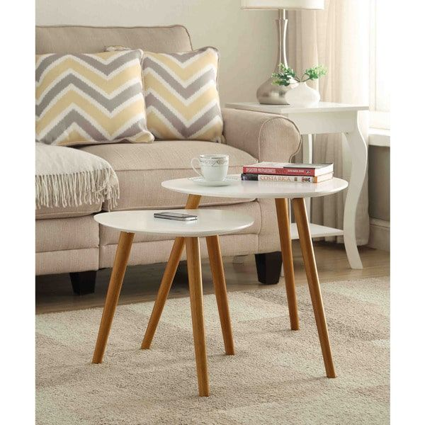 Convenience Concepts Oslo Nesting End Table Set   Overstock.com Shopping - The Best Deals on Coffee, Sofa & End Tables