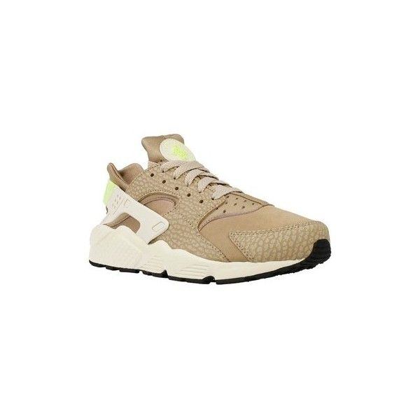 Nike Air Huarache Run PR Shoes (Trainers) ($220) ❤ liked on Polyvore featuring men's fashion, men's shoes, men's sneakers, beige, men, shoes, trainers, mens sneakers, mens shoes and nike mens shoes