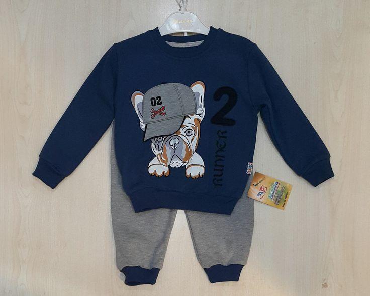 Haliş Runner 2 Aplikeli Erkek Çocuk 2li Takım - Ecrin Çocuk Giyim