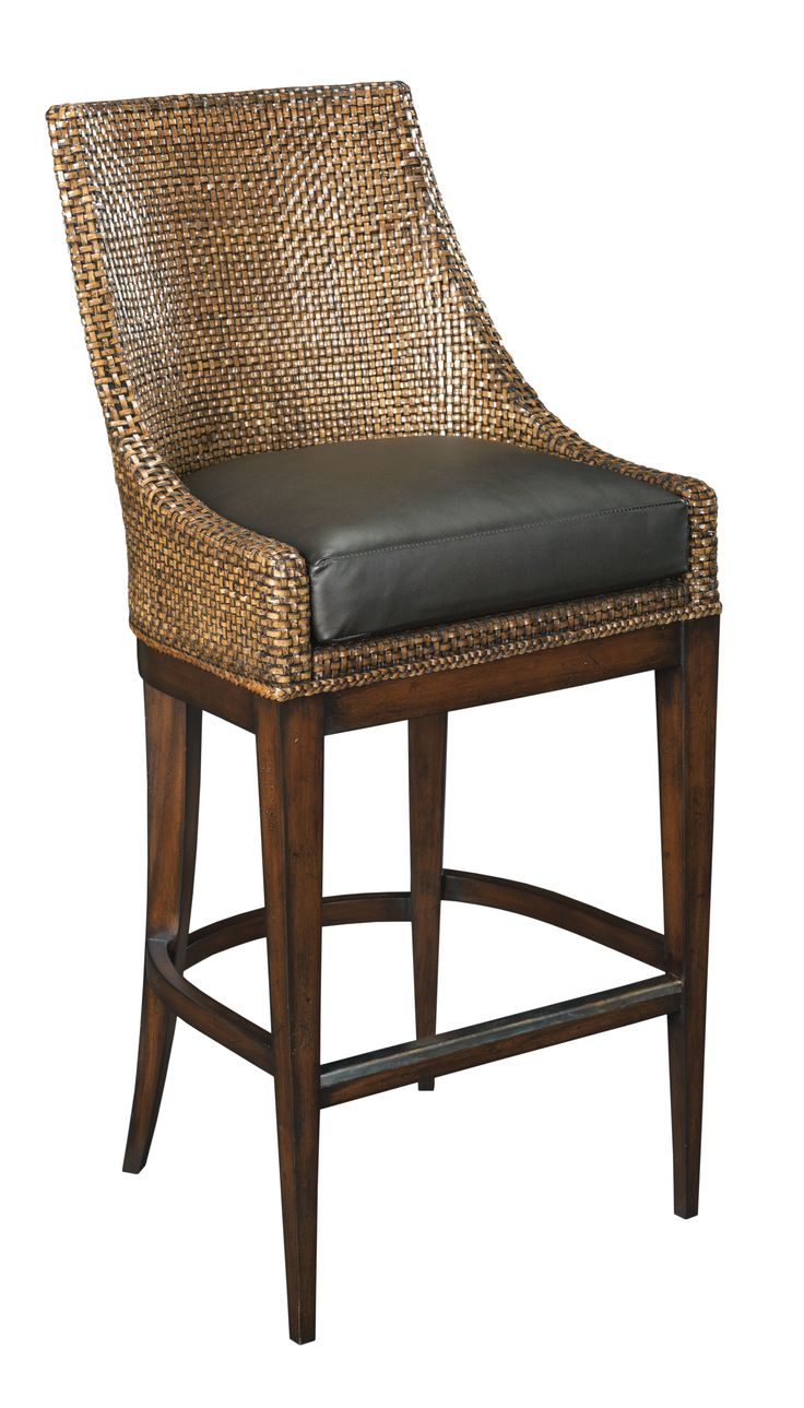 ATELIER BY CEBULA DESIGN: This Woven Leather Bar Stool From Woodbridge  Furniture Is Available In
