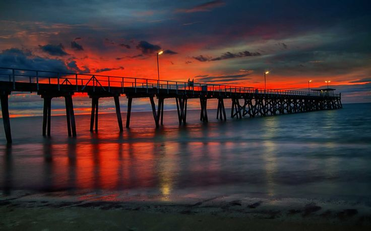 Largs Bay Jetty(Pier) - Adelaide South Australia - Photography Print on Metal