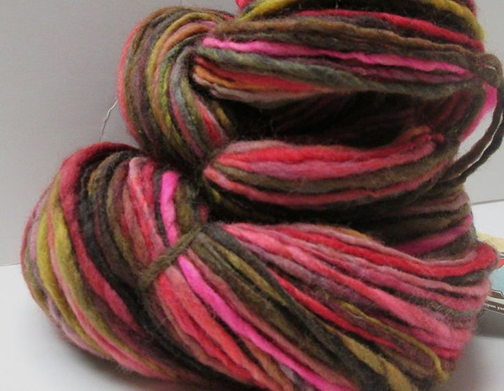 Handspun Yarn Single Ply Bulky Polwarth Wool 200 yards by YarnHero