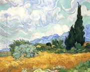 Wheatfield with Cypress I by Vincent Van Gogh