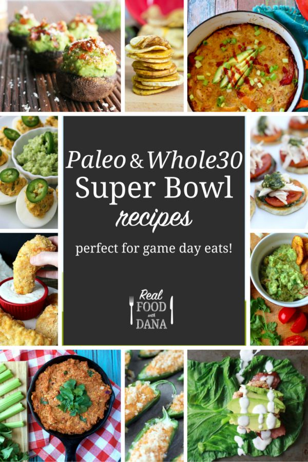 Whole30 Super Bowl Recipes Roundup | Honestly, a paleo-friendly super bowl menu isn't that hard. But what about if you're doing a whole30, where all sugar (and alcohol, EEK) is also off the table? Not to worry, I've got you covered there too. Here are some of my favorite paleo/real food/whole30-friendly super bowl recipes! | www.realfoodwithdana.com
