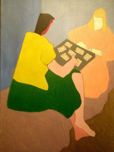milton avery paintings | Milton Avery 'The Card Players', 1945, Milwaukee Museum of Art ...