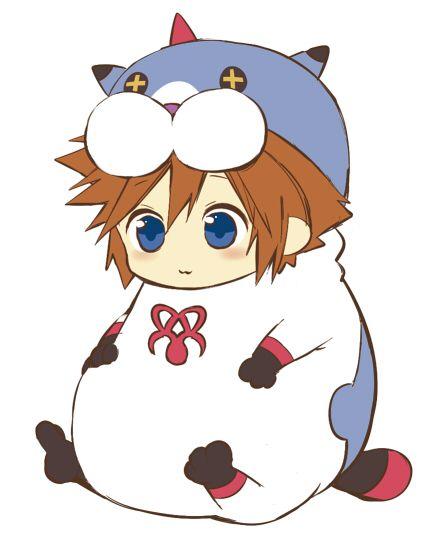 Sora in Meow Wow costume