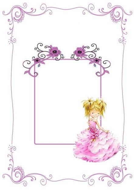 violet frame with litte girl