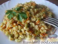 Фото к рецепту: Перловка с овощами