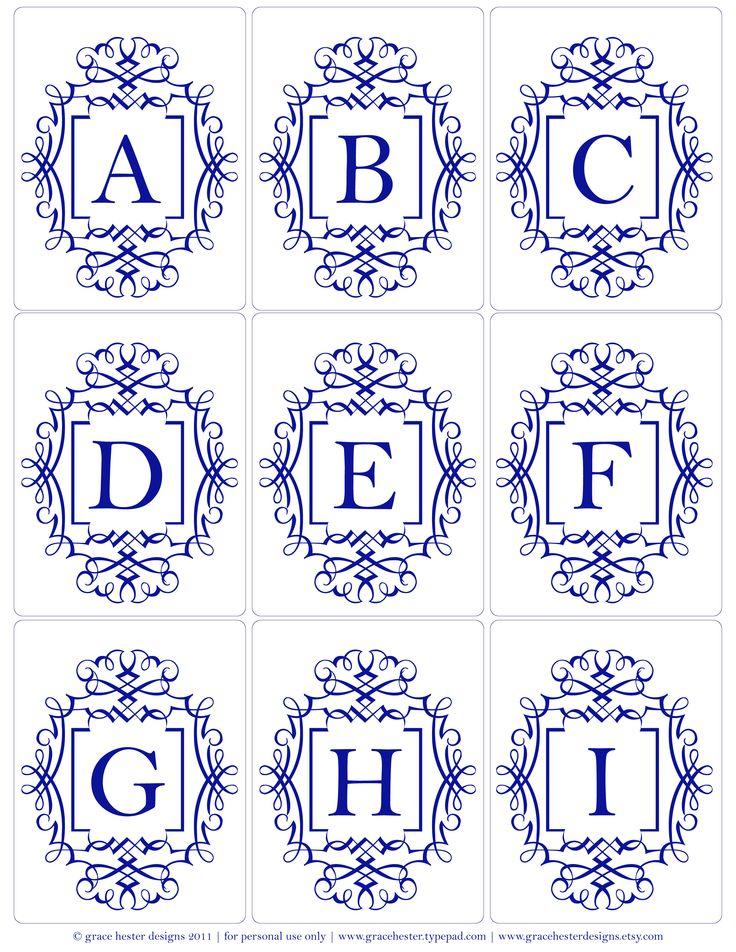 Monogram A-I
