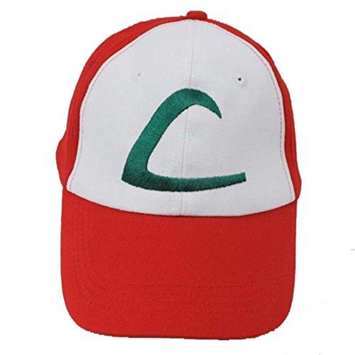 Nintendo Pokemon Ash Ketchum Cap Embroidered Hat One Size-A | #Apparel #external #Shirts #Men
