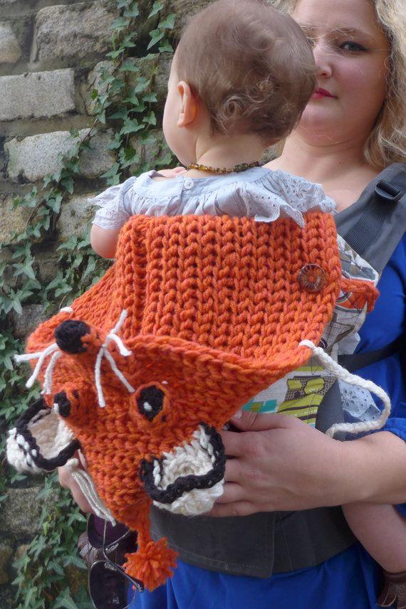 CUSTOM Handmade crochet foxy hoodie hood  Tula foxy  от LollyBirds