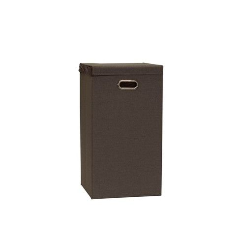 Household Essentials Collapsible Laundry Hamper Grey Brown