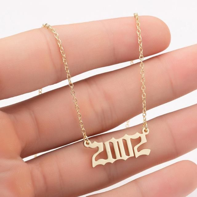 Women Personalized Necklace Special Date Year Number Necklace Girl1994 1995 1996 1997 1998 1999 From 1980 Chains Jewelry Number Necklace Personalized Necklace