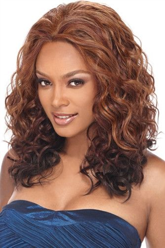 Outre Synthetic Lace Front Wig BERRY