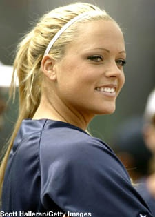 Jennie Finch... Who I'll remember when playing ball
