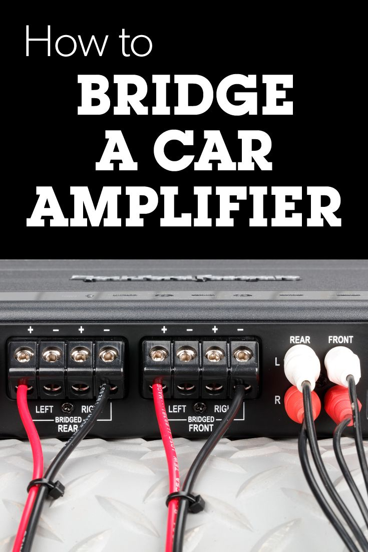 hight resolution of most car amplifiers have a feature called bridging or bridge mode where two channels are combined to produce one channel with maximum output power