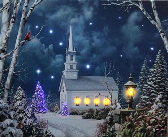 Christmas Lighted Canvas Art