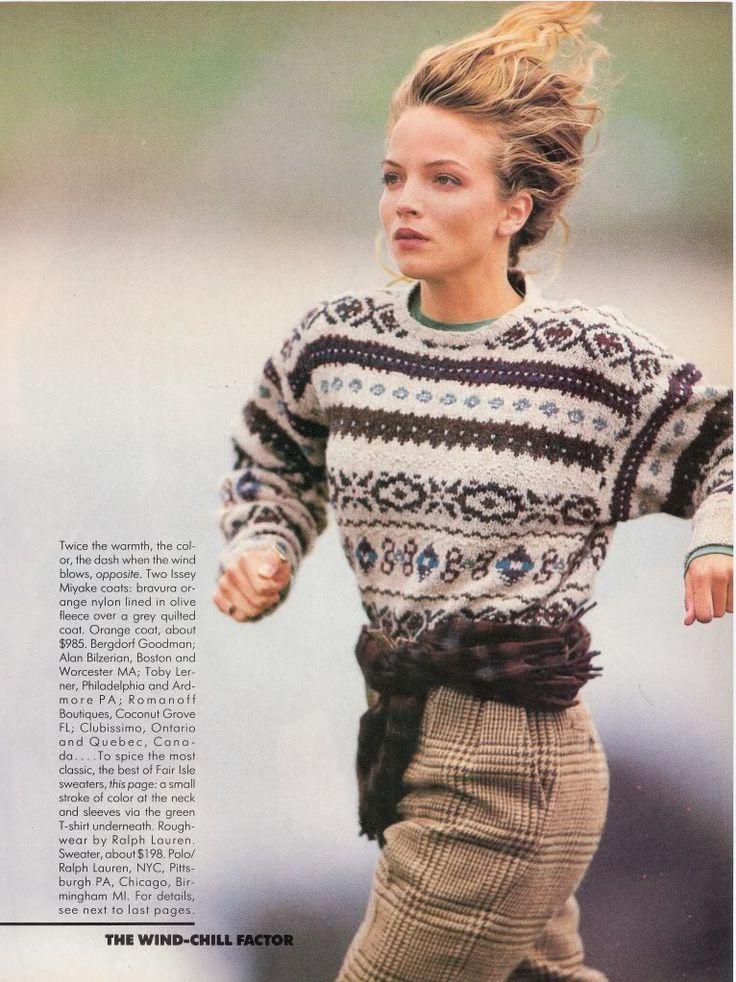 US Vogue October 1987 Winter...In a Different Light Model: Rachel Williams Photo: Eddy Kholi  Hair: Bob Recine,  Makeup: Robert Snow